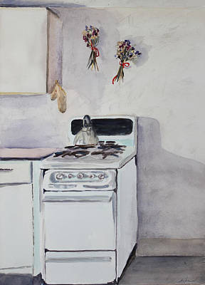 Painting - Old Stove And Shadows by Asha Carolyn Young