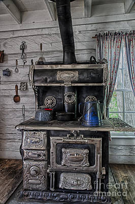 Old Stove Art Print
