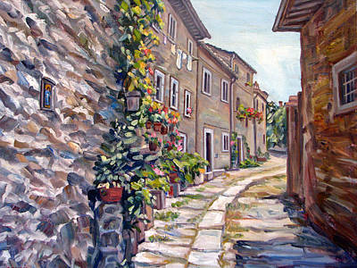 Old Street Cortona Tuscany Original by Robert Gerdes