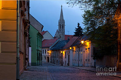 Photograph - Old Street In Bratislava Slovakia by Les Palenik