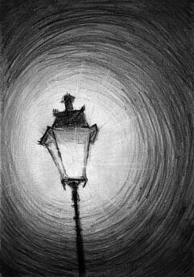 Old Lamp Drawing - Old Street Lamp by Di Fernandes