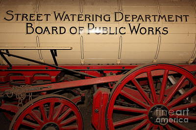 Chuck Wagon Photograph - Old Street Watering Department Wagon 5d24532 by Wingsdomain Art and Photography