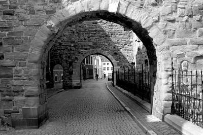 Limburg Photograph - Old Street With Two Ports In Maastricht by Jolly Van der Velden