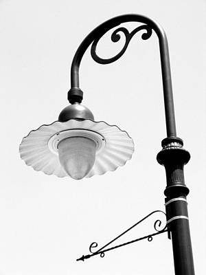 Photograph - Old Streetlamp Greenfield Village Bw by Mary Bedy