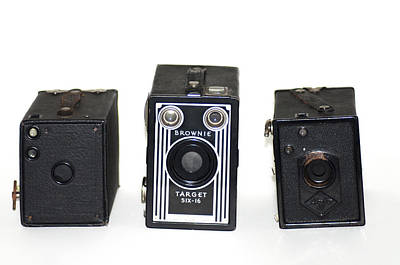 Brownie Digital Art - Old Style Cameras by Bill Cannon