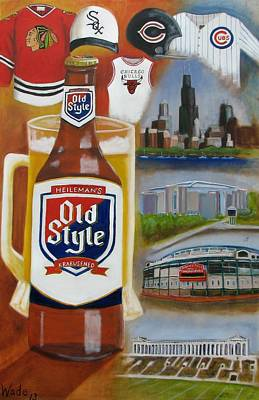 Soldier Field Painting - Old Style Chicago Style by Craig Wade