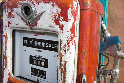 Jason O. Watson Photograph - Old Style Gilbarco Gas Pump by Jason O Watson