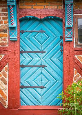 Entrance Door Photograph - Old Swedish Door by Inge Johnsson