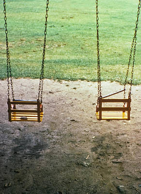 Photograph - Old Swings In Brookdale Park by Kellice Swaggerty