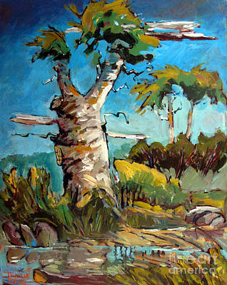 Sycamore Painting - Old Sycamore Snag by Charlie Spear