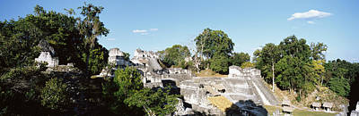 Ancient Civilization Photograph - Old Temple In The Forest, Tikal by Panoramic Images