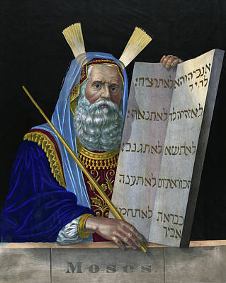 Tablet Painting - Old Testament Moses by Granger