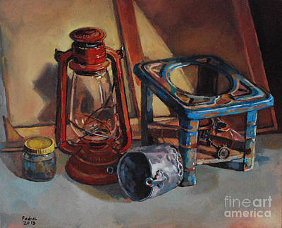 Painting - Old Things by Mohamed Fadul