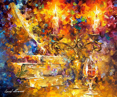 Old Thoughts 2 - Palette Knife Oil Painting On Canvas By Leonid Afremov Original by Leonid Afremov