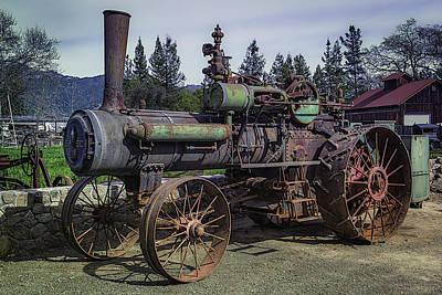 Machinery Photograph - Old Threshing Machine by Garry Gay