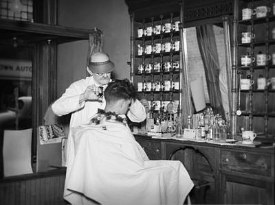 Haircut Digital Art - Old Time Barbershop by Bill Cannon