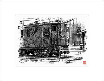 Old Time Caboose Print by Ken Evans