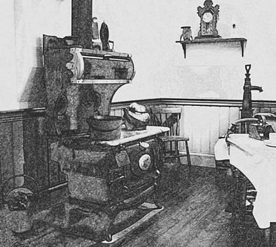 Digital Art - Old Time Farm Kitchen by Ian  MacDonald