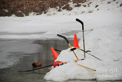 Pond Hockey Photograph - Old Time Hockey 1 by Michael Mooney