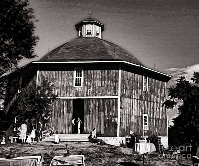Photograph - Old Time Iowa Wedding Barn by Luther Fine Art