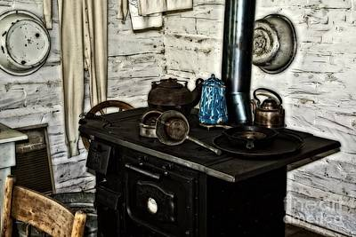 Photograph - Old Time Kitchen Stove by Ms Judi