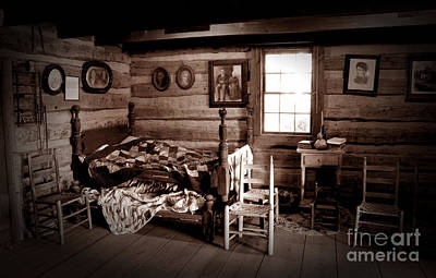 Cabin Interiors Photograph - Old-time Living by Paul W Faust -  Impressions of Light