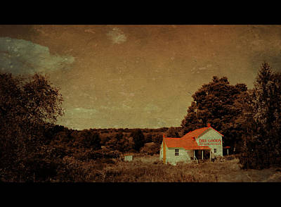 Red Roof Mixed Media - Old Time Mercantile by Eric Liller