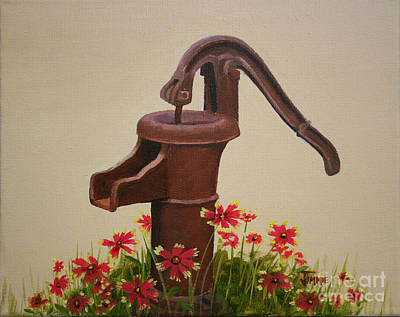 Old Time Pump Art Print by Jimmie Bartlett