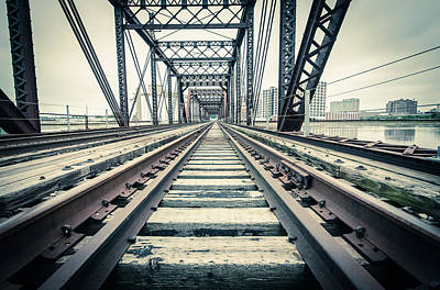 Photograph - Old-time Train Tracks In Cedar Rapids by Anthony Doudt