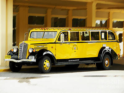 Old Time Yellowstone Bus Art Print
