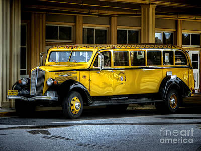 Old Time Yellowstone Bus II Art Print by David Lawson