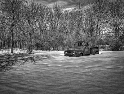 Old Timer In The Snow Art Print by Thomas Young