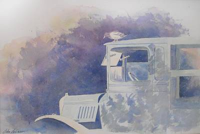 Old Trucks Painting - Old Timer by John  Svenson