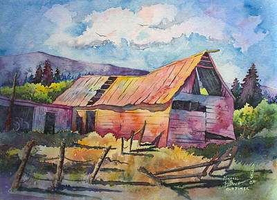 Old Barn Painting - Old Timer by Michael Bulloch