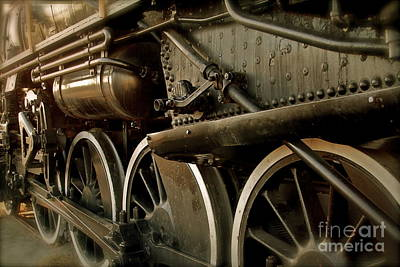 Locomotive Wheels Photograph - Old Timer by Rick  Monyahan