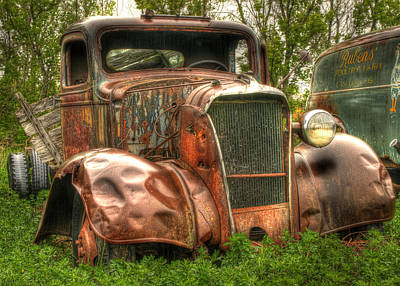 Old Trucks Photograph - Old Timer by Thomas Young