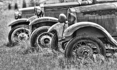Old Timers Bw Art Print by Naman Imagery