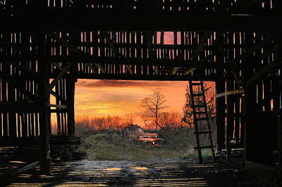 Old Timers Sunset Art Print