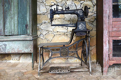 Quilting Machine Photograph - Old Times Remembered by Bob Christopher