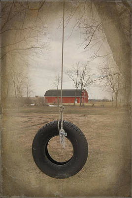 Old Tire Swing Art Print