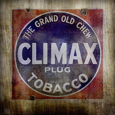 Photograph - Old Tobacco Sign by Ann Powell