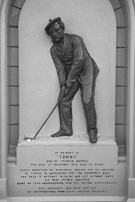 Photograph - Old Tom Morris Gravestone by Bill Fields