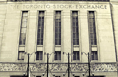 Photograph - Old Toronto Stock Exchange by Charline Xia