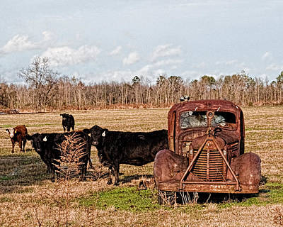 Farm Photograph - Old Tow Truck by Brett Price