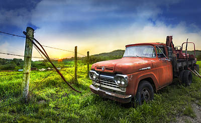 Photograph - Old Tow Truck by Debra and Dave Vanderlaan