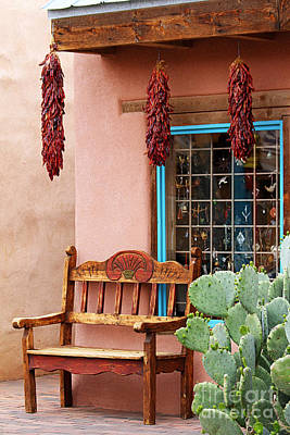 Old Town Albuquerque Shop Window Art Print by Catherine Sherman