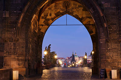 Prague Photograph - Old Town Bridge Tower, Prague, Czech by Panoramic Images