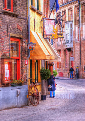 Photograph - Old Town Bruges Belgium by Juli Scalzi