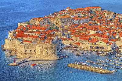 Fisher Photograph - Old Town Dubrovnik by Douglas J Fisher