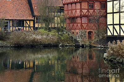 Old Town In Aarhus Art Print by Inge Riis McDonald